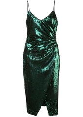 Black Halo sequin-embellished midi dress