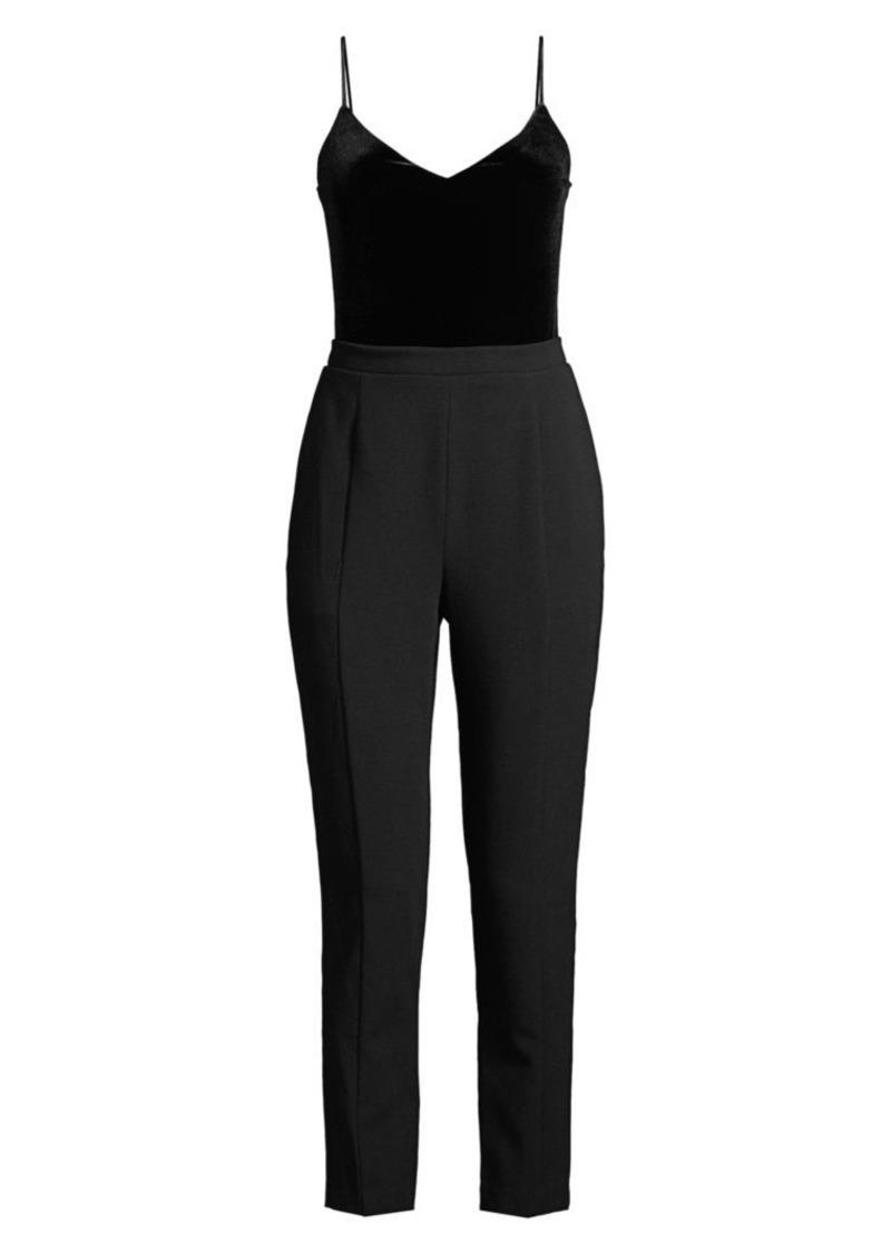 Black Halo Teagun Tailored Velvet Jumpsuit