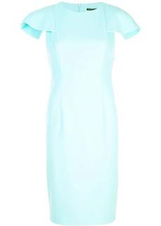 Black Halo uneven sleeve dress