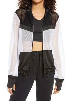 Blanc Noir Colorblock Mesh Jacket
