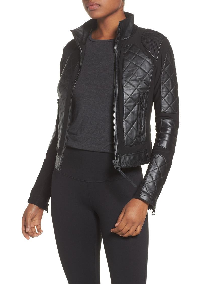 2f31c93190c3 Blanc Noir Blanc Noir Leather   Mesh Moto Jacket