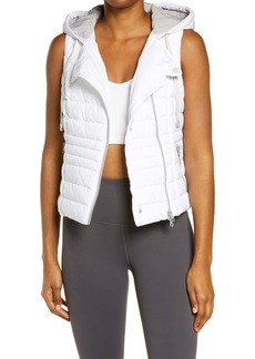 Blanc Noir Solitaire Hooded Quilted Vest