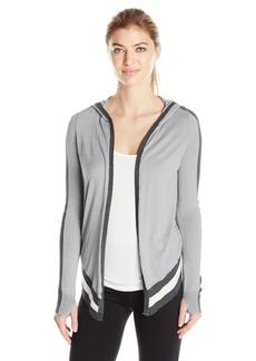 Blanc Noir Women's Hooded Wrap Cardigan  S