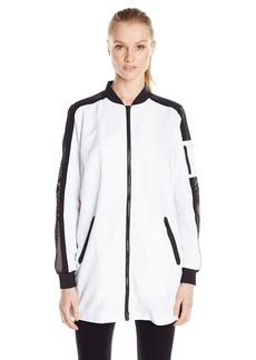 Blanc Noir Women's Long Active Bomber Jacket  S