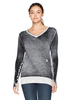 Blanc Noir Women's Pigment Printed Open Back Sweater  XS