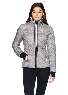 Blanc Noir Women's Puffer Jacket with Reflective Trim  XS