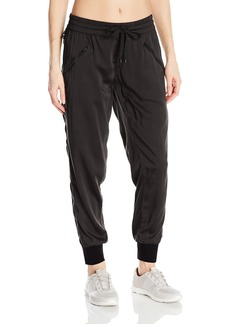 Blanc Noir Women's Side Zipper and Mesh Aviator Jogger Pant  M
