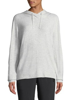 Blanc Noir Clandestine Hooded Open-Elbow Pullover Sweater