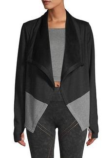 Blanc Noir Colorblock Open-Front Jacket