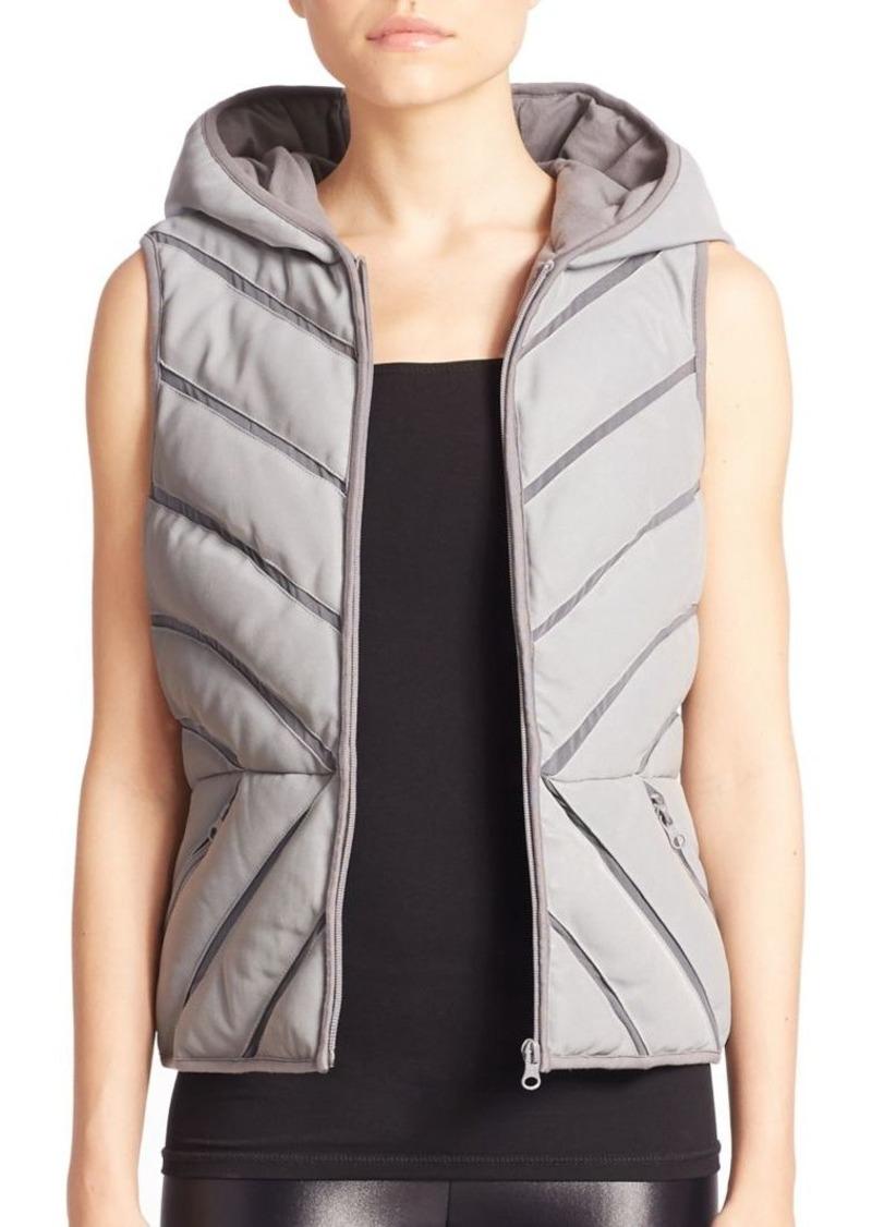 dda9c042264a Blanc Noir Mesh Inset Reflective Puffer Vest | Casual Shirts