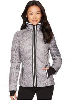 Blanc Noir Puffer Jacket with Reflective Trim - Heather