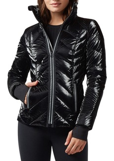 Blanc Noir Super Hero Puffer Jacket with Reflective Trim
