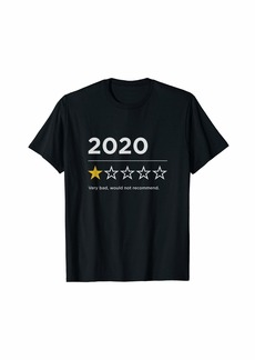 Blank 2020 Sucks Very Bad Would Not Recommend Funny 1 Star Rating T-Shirt