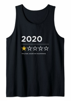 Blank 2020 Sucks Very Bad Would Not Recommend Funny 1 Star Rating Tank Top