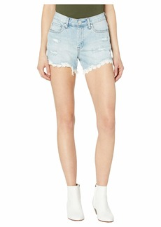 Blank Barrow Shorts with Lace Detail in No Thrills