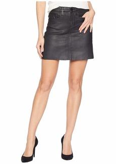 Blank Black Coated Mini Skirt in Spartacus