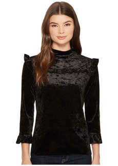 Blank Black Crush Velvet Ruffle Turtleneck in Spark It