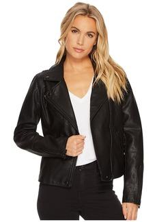 Blank Black Vegan Leather Jacket in Onyx