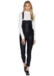 Blank Black Vegan Leather Overalls in All Good