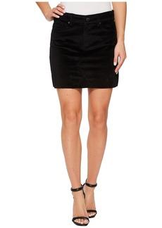 Blank Black Velveteen Mini Skirt in Raven Feather
