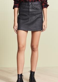 Blank Denim Coated Denim Miniskirt