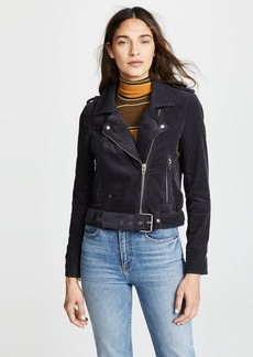 Blank Denim Corduroy Moto Jacket