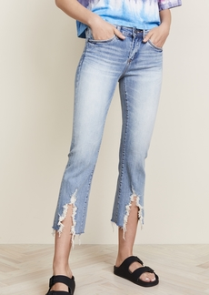 Blank Denim The Varick Cropped Flare Jeans