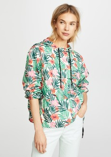 Blank Denim Tropical Print Anorak