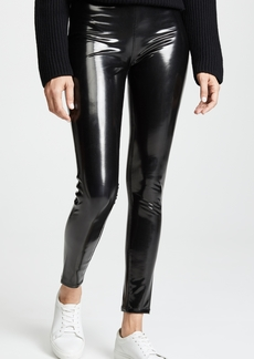 Blank Denim Vinyl Pull On Leggings
