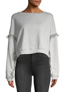 Blank Beaded Cotton Sweatshirt