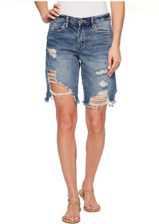 Blank NYC Bermuda Distressed Shorts in Poster Child
