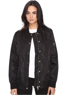 Blank NYC Black Bomber Jacket in Super Freak