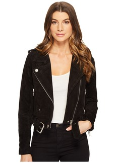 Blank NYC Black Suede Moto Jacket in Seal The Deal