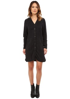 Blank NYC Black Tunic Dress w/ Vegan Leather Detail in One Hitter