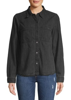 Blank NYC Chambray Button-Front Shirt