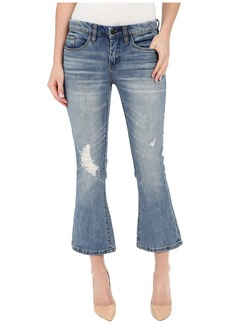 Blank NYC Crop Kick Flare Jeans in Denim Blue