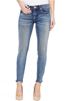 Blank Cropped Denim Skinny with Raw Edge Detail in Amped Out