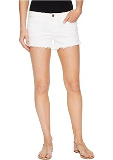 Blank NYC Cut Off Shorts in Great White