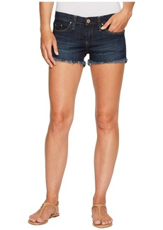 Blank Dark Denim Cut Off Shorts in Da Fuq