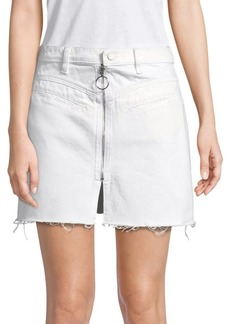 Blank NYC Denim A-Line Mini-Skirt
