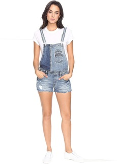 Blank NYC Denim Color Block Overalls in Whambulance