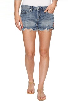 Blank NYC Denim Embroidered Cut Off Shorts in Wild Child