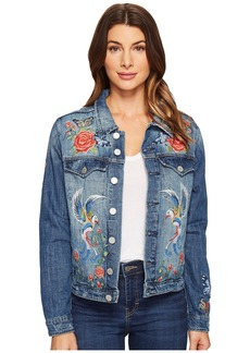 Blank NYC Denim Embroidered Jacket in Wild Child