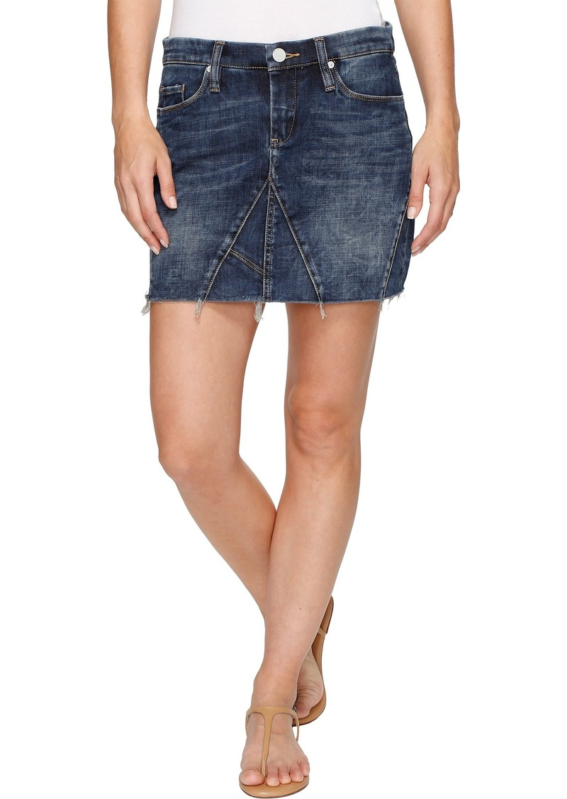 Blank Blank NYC Denim Mini Skirt Frayed Bottom in Side Hustle ...