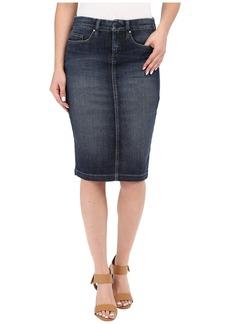 Blank Denim Pencil Skirt in Denim Blue