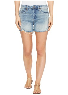 Blank NYC Denim Shorts with Lacing Detail in Mind Mischief
