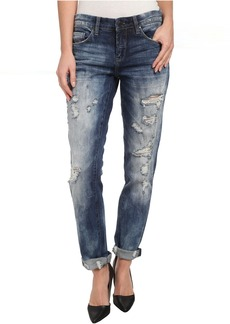 Blank Distressed Denim Boyfriend Relaxed Straight Jean in Fit Of Rage