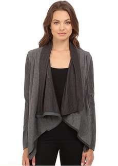 Drape Front Jacket in French Grey