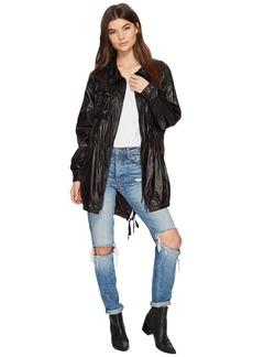 Blank Drawstring Lightweight Jacket in After Dark