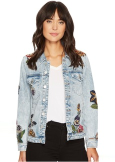 Embroidered Denim Jacket in Flight Song